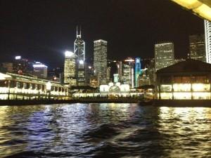 スターフェリーから見た香港の夜景