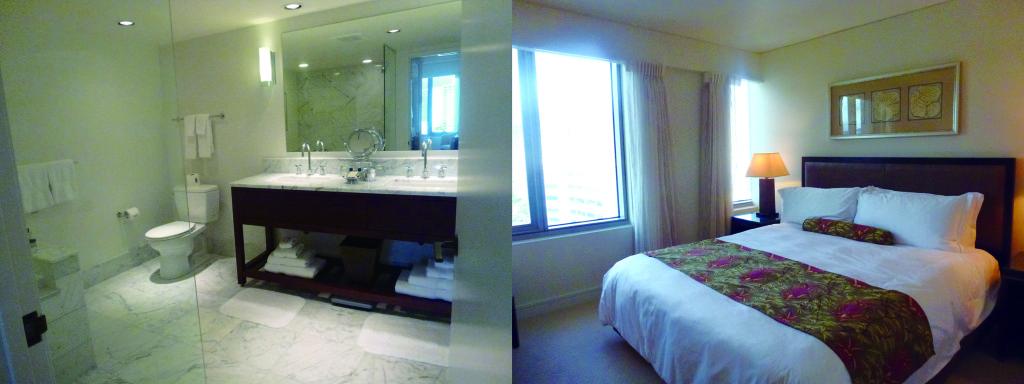 見学した2Bed Roomのお部屋のバスルームとベッドルーム