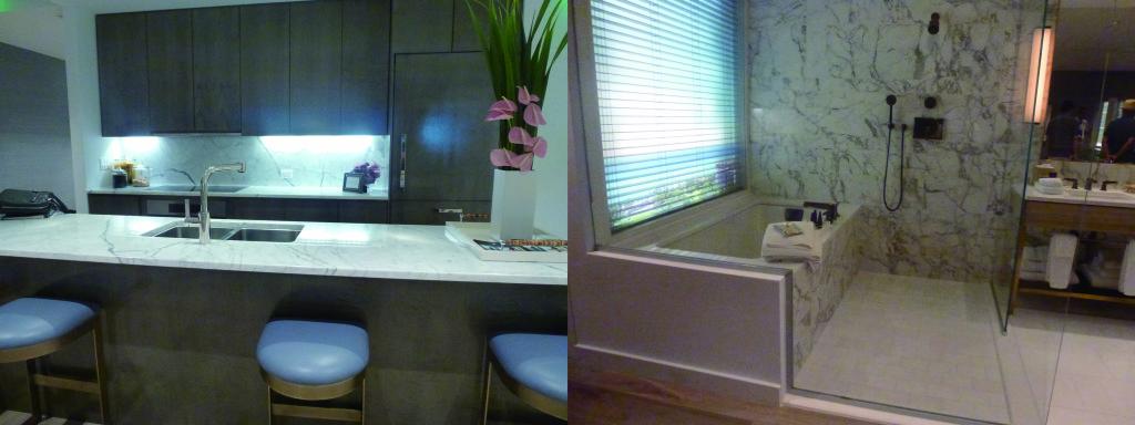 キッチン(左)とバスルーム(右)のサンプル